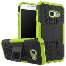Kickstand Protective Phone Cover Case For Samsung Galaxy A3 (2017) - Green  - $4.99