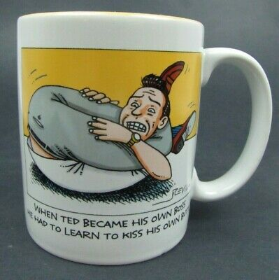 Primary image for Kiss His Own Butt - Hallmark Comical Funny Coffee Mug - New