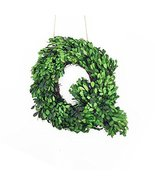 """Modern Home 12"""" Real Preserved Boxwood Monogram Wreath Letters - Q - $23.55"""