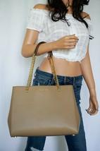 Nwt Michael Kors Ellis Large Leather Shoulder Tote Bag Dark Khaki - $108.89