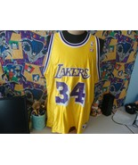 Vintage 90's Los Angeles Lakers Shaquille O'Neal NBA Champion Jersey 52 - $74.24