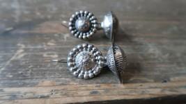 "Vintage Sterling Silver Handmade Dangle Earrings 2"" - $20.79"