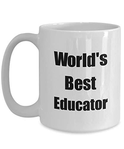 Primary image for Worlds Best Educator Mug Funny Christmas Gift Idea for Novelty Gag Coffee Tea Cu