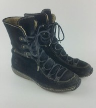 Timberland Womens Black Leather Waterproof Sherpa Lined Boots Size 6.5  - $19.69