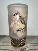 NEW! Vintage MCM Westmoreland Charm Glow Set Owl Frosted Candle Holder C19 - $40.00