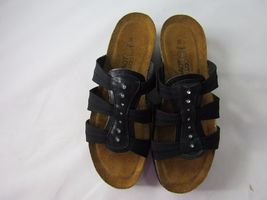 7 EU Sandals Rhinestone NAOT 38 Strappy Slides Women's Size Black US Shoes q4w8PE