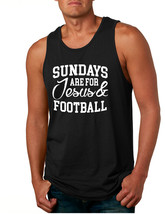 Men's Tank Top Sundays Are For Jesus And Football Love Top - $13.94+