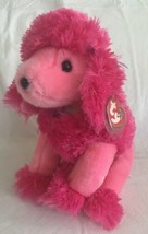 "TY Beanie Buddy Parfum French Poodle Plush 11"" New With Tags Pink 2003 MWMT - $27.71"