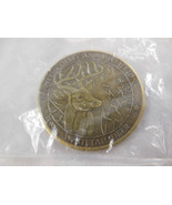 North America Hunting Club Big Game Collector Bronze Coin Whitetail Deer  - $10.88
