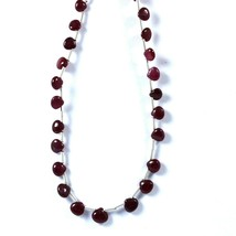 19 Carat 4 to 6 MM Natural Ruby Smooth Heart Shape 9 Inch Beads - $38.99
