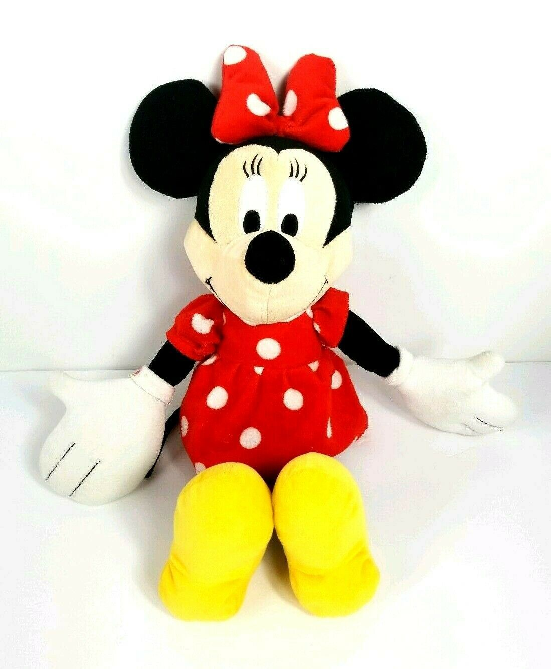 "Primary image for Disney Minnie Mouse Plush Red Polka Dot Dress Jay Franco Sons Inc 18"" Toy"