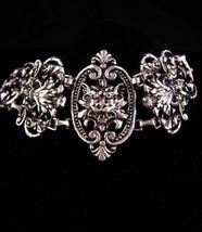 Antique bracelet / silver Gothic lion bracelet / Medieval jewelry / garg... - $225.00