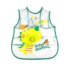 PANDA SUPERSTORE Creative Zoo Dinosaur Pattern Children Smocks Waterproof Aprons