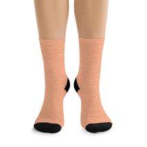 Snow Little Dots Cantaloupe DTG Socks - $17.40