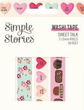 Simple Stories Sweet Talk Washi Tape 3/Pkg- - $12.57