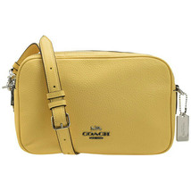 NWT COACH Jes Crossbody Luxury Logo Charm Shoulder Bag Cute Light Yellow... - $144.54