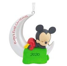 Disney Mickey Mouse 2020 Del Bebé Primera Navidad Moon Árbol de Ornamento - $31.51