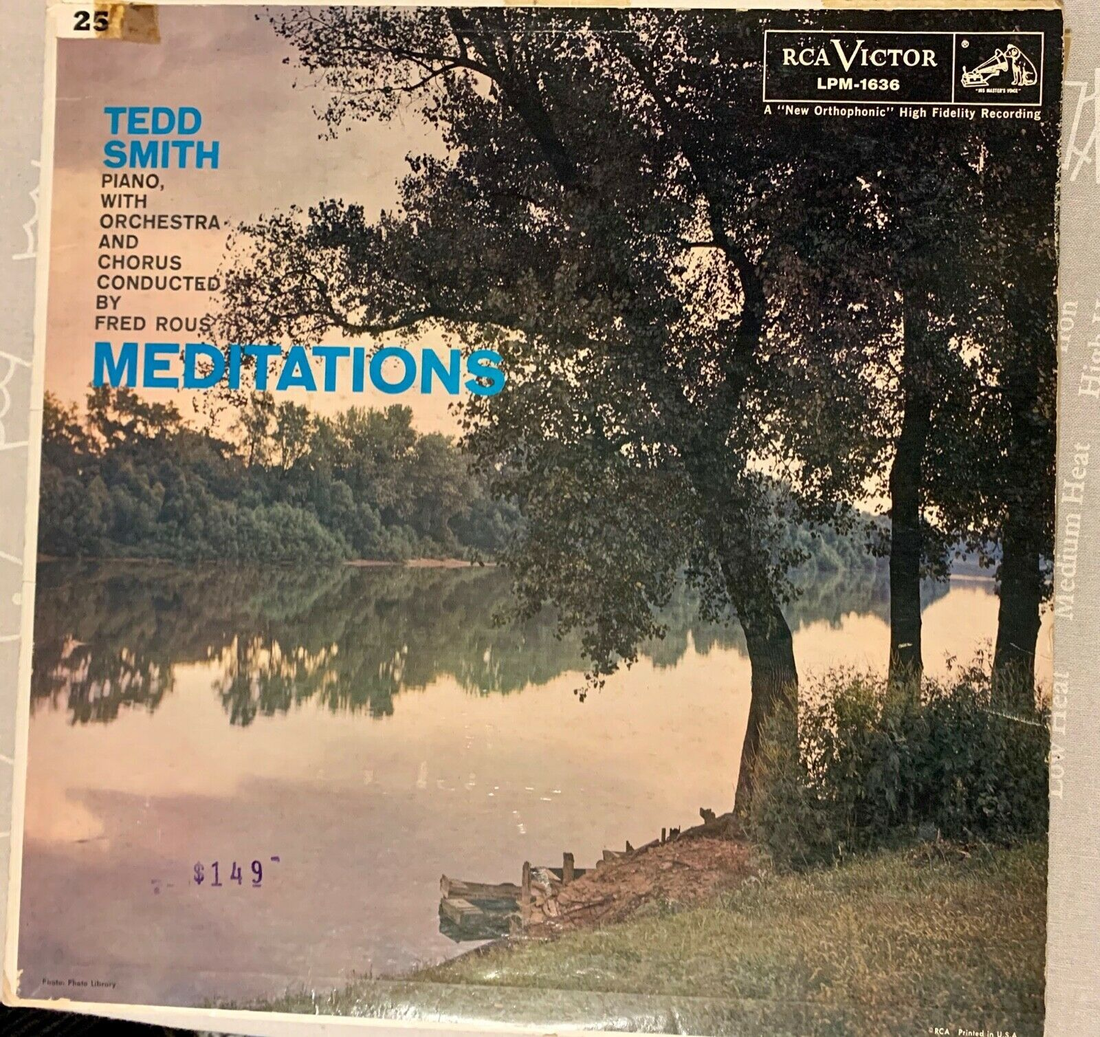 Primary image for Tedd Smith, Fred Rous, ‎Piano Orchestra - Meditations Vinyl LP Record
