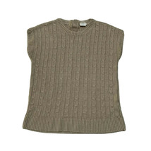 Crewcuts Girls Cable Knit Shirt Top Size 8 Tan - $17.82