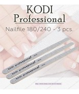 NEW Kodi professional Nailfile droplet Gray 180/240 for natural nails - $14.85