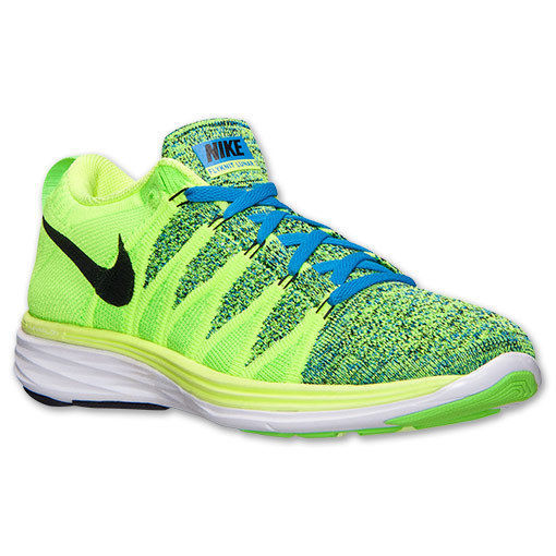 Primary image for Men's Nike Flyknit Lunar2 Running Shoes, 620465 701 Mult Sizes Volt/Black/Photo