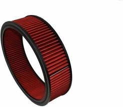 """HIGH FLOW WASHABLE & REUSABLE ROUND AIR FILTER ELEMENT REPLACEMENT 14"""" X 4"""" RED image 5"""