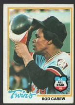 Minnesota Twins Rod Carew 1978 Topps Baseball Card 580 vg/ex - $1.99