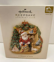 2006 Hallmark Keepsake Club A GLIMPSE OF SANTA  Magic Features Light NIB - $19.75