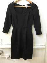 Womens H&M  Black 3/4 Sleeve Scoop Neck Zip Back Dress Size XS Extra Small - $16.95