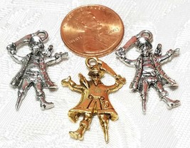PIRATE BUCCANEER FINE PEWTER PENDANT CHARM - 18x26x4mm image 2