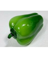 """Blown Glass Green Pepper - Vegetable Fruit - Large Size 5-1/2""""x 3-1/2"""" R... - $9.79"""