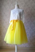 YELLOW Midi Tulle Skirt Yellow Wedding Bridesmaid Tulle Skirt 6-layer Tutu Skirt image 4