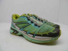 Salomon Women's Wings Pro 2 Trail Running Shoes Green/Blue/Yellow Size 7M - $21.37