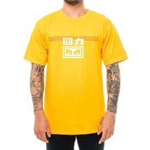 T-SHIRT UOMO WARRIOR X OBEY LINES TEE 163082172E.GOLD MAGLIETTA MAN TRIB... - $50.24