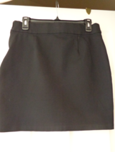 International Concepts Black Skirt with Side Zipper Size 8 (#2979) - $9.99