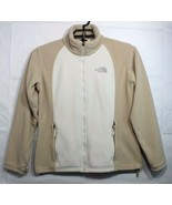 The North Face women's fleece jacket zipper front beige size XL - $21.88