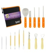Halloween Haunters Pumpkin Carving Tool Kit 14 Piece 18 Cut Professional... - $29.96