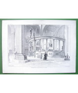 ARCHITECTURE PRINT : ITALY Interior of Cathedral of Verona Cancellum - $22.95