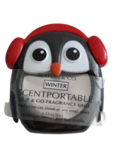 Bath Body Works Black Penguin with Winter Disc Car Air Freshener Scentportable - $18.99