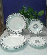 (7) Piece Set Oneida Porcelain FACADE Dinnerware ~ 3) Dinner & 4) Salad Plates - $4.94