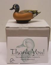 Jett Brunet Ducks Unlimited Miniature Decoy Blue Winged Teal LIMITED EDI... - $23.98