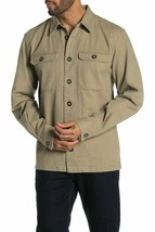 Slate & Stone Men's Cole Pocket Front  Shirt Jacket Size Khaki XL - $59.39