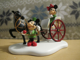 Dept 56 Mickey's Very Merry Xmas Village Minnie's Carriage Ride Mickey H... - $299.99