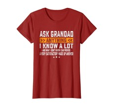 Brother Shirts - Funny Mens Ask Grandad Anything Bday Shirt Fathers Day ... - $19.95