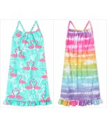 NWT The Childrens Place Girls Pink Flamingo Tie Dye Sleeveless Nightgown... - $10.99