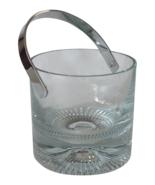 Mid-Century Crystal Ice Bucket Chic Modern - $40.00