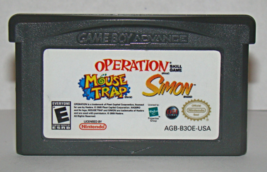 Nintendo Gameboy Advance - Mouse Trap / Operation / Simon (Game Only) - $6.50