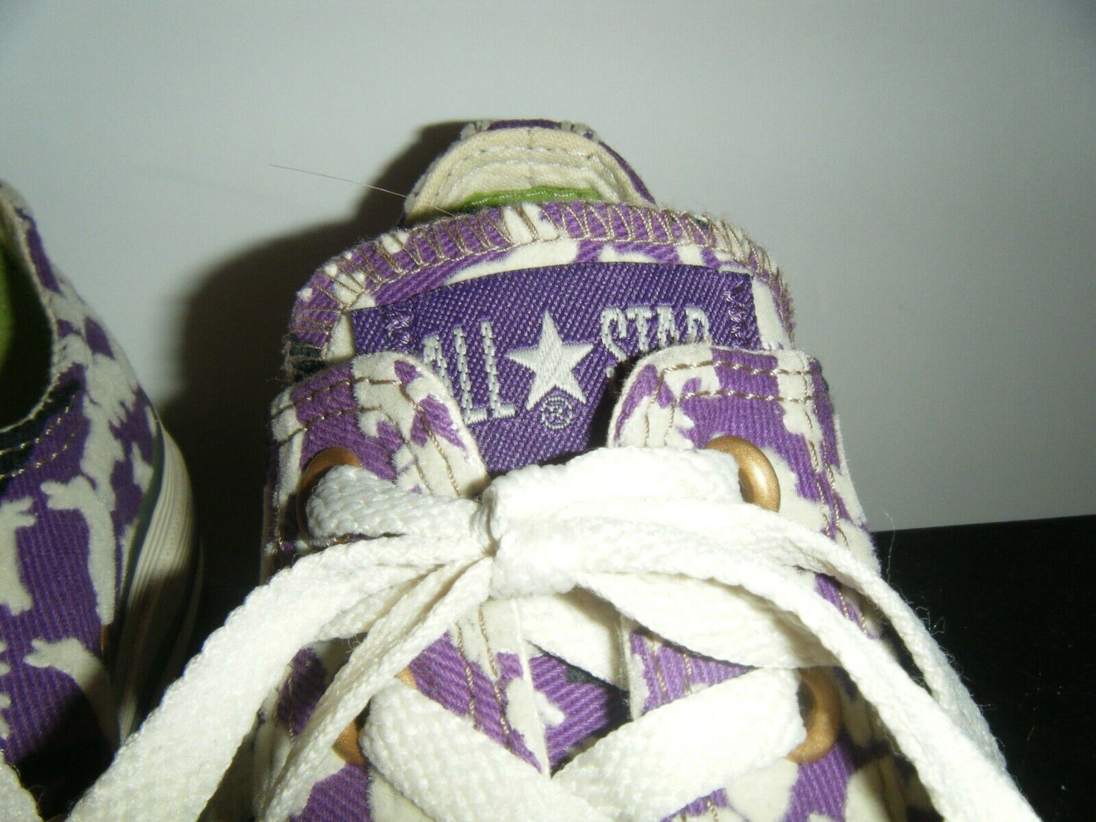 Converse All Star Tennis Shoes Mens 3 Womens 5 Ox Bunny Rabbit Purple Flocked image 11