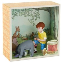 Hallmark Winnie the Pooh Shadow Box Fixing Eeyore's Tail Christopher Robin - $19.59