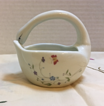 Vintage Hand painted TAKAHASHI Swan Shaped Porcelain Basket TRINKET/RING... - $10.00